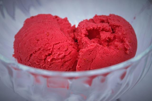 frambuesa helado