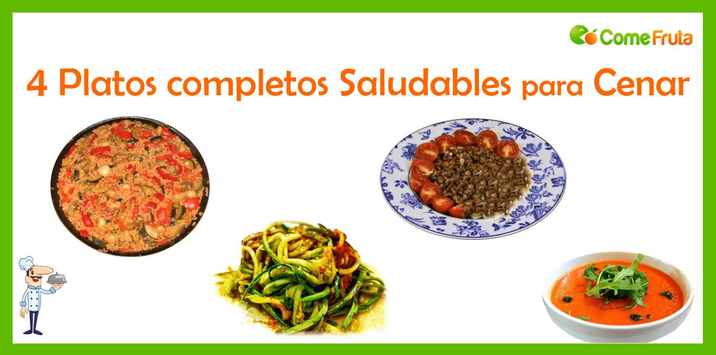 recetas saludables comefruta para cenar