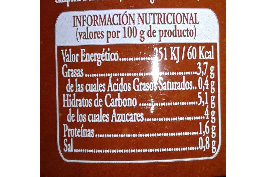 salsa tomate nutri