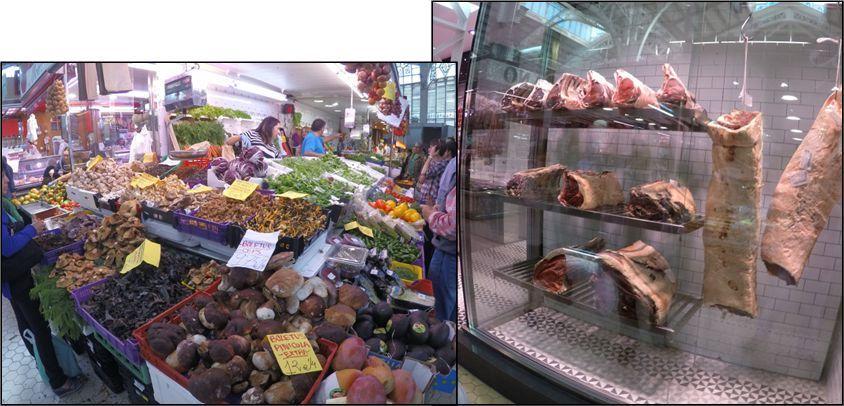 Setas y Carnes - Mercado Central de Valencia