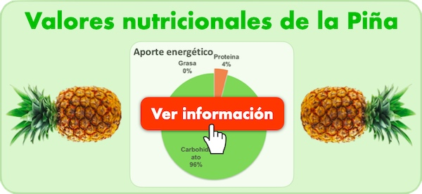piña comefruta valores nutricionales