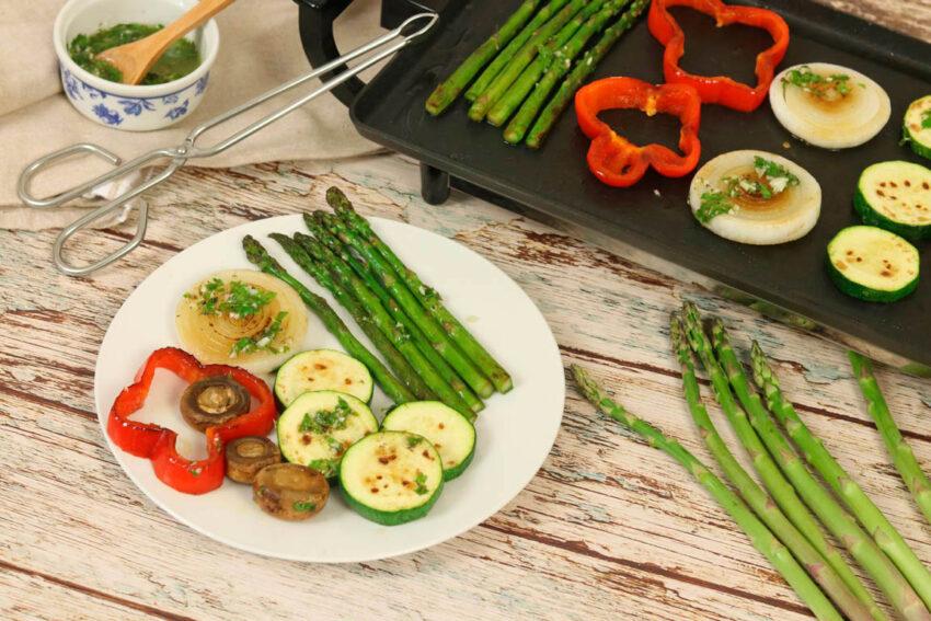 parrillada verduras plancha