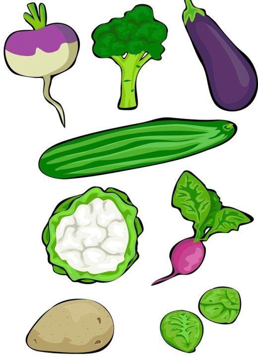 verdura con hierro