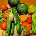 Verduras de temporada de mazro
