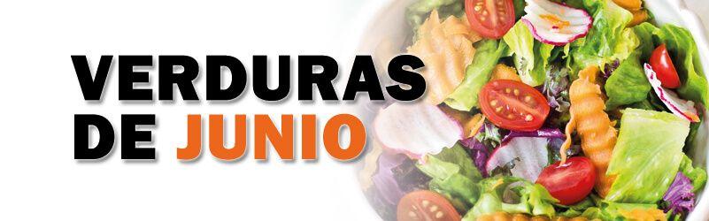 verduras de temporada de junio