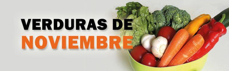 verduras de temporada de noviembre