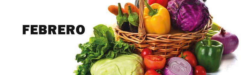 verduras de temporada de febrero