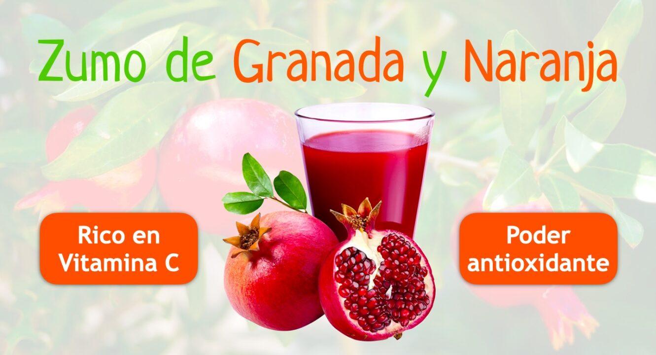 zumo de granada antioxidante